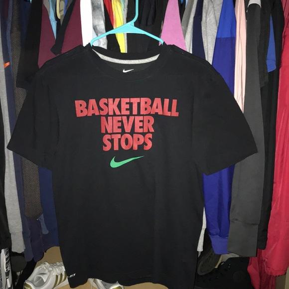 Nike Shirts T Shirt Basketball Never Stops Poshmark